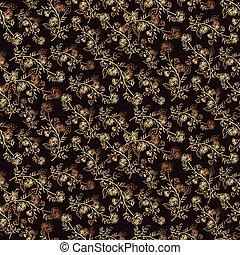 Patrón floral sin costura en negro