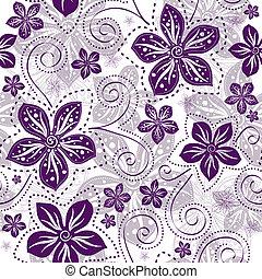 Patrón floral sin manchas