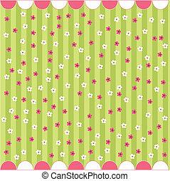 Patrón floral sin sellar, tarjeta de bebé