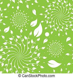 Patrón floral verde sin costura