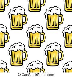 Patrón fresco de cerveza sin costura
