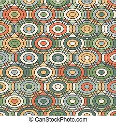 Patrón geométrico étnico con círculos