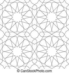 patrón, geométrico, blanco, seamless