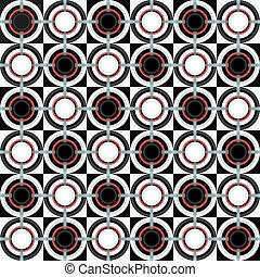 Patrón geométrico con círculos