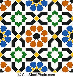 Patrón geométrico islámico sin fisuras