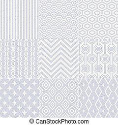 Patrón geométrico sin costura