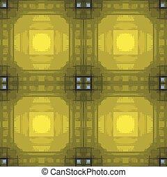 Patrón geométrico sin daños en verde