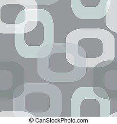 Patrón gris retro de donut sin costura