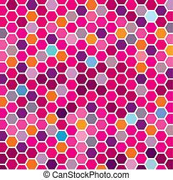 Patrón hexagonal marrón