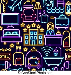 patrón, hotel, seamless