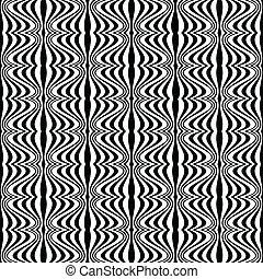 patrón, -, ilusión, óptico, geométrico, dibujo