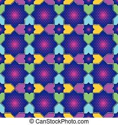 Patrón islámico de estrellas sin costura