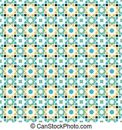 Patrón islámico, estrella árabe sin costura geométrica abstracta, vector
