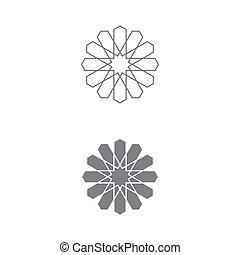 patrón, islámico, ilustración, vector