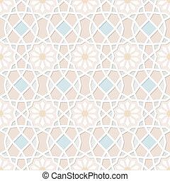 Patrón islámico tradicional ornamental sin costura