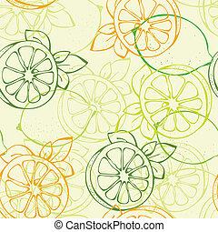 patrón, limón, seamless