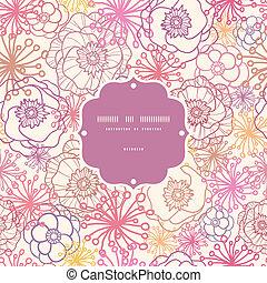 patrón, marco, seamless, campo, plano de fondo, sutil, flores
