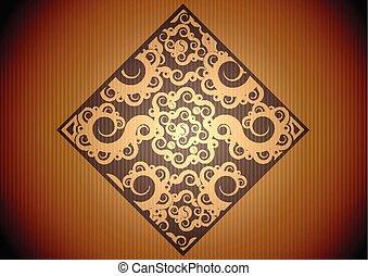 Patrón marrón antiguo