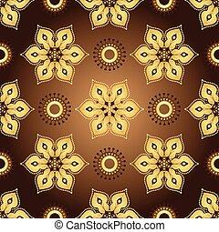 Patrón marrón antiguo sin costura