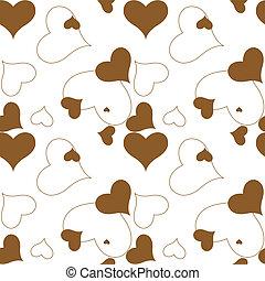 Patrón marrón del corazón