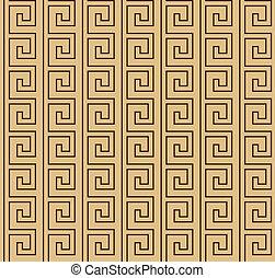 Patrón marrón griego