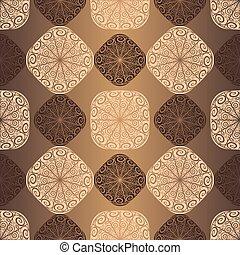 Patrón marrón sin costura
