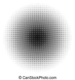 /, patrón, monocromo, círculo, dots., texture., halftone