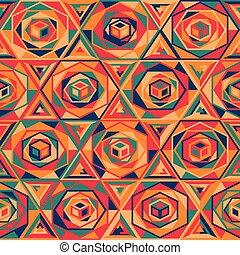 Patrón mosaico multicolor sin costura