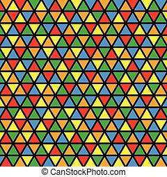 Patrón mosaico vector sin costura