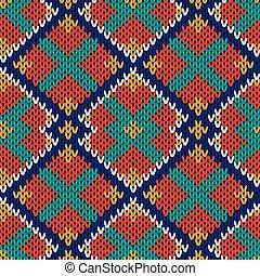 Patrón multicolor tejido sin costura