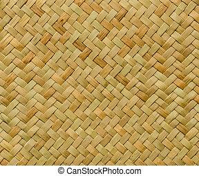Patrón natural de origen de artesanía tejer mimbre de textura