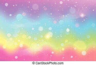 patrón, onda, fondo., sirena, galaxia, arco irirs, unicornio