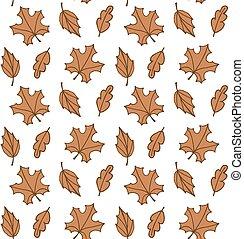 patrón, otoño sale, seamless, marrón, vector