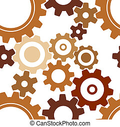 patrón, oxidado, rueda dentada, seamless