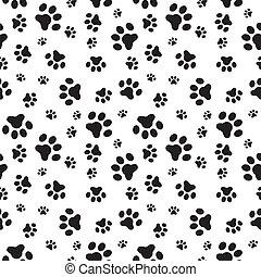 patrón, patas, perro, seamless