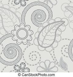 patrón, plano de fondo, seamless, floral