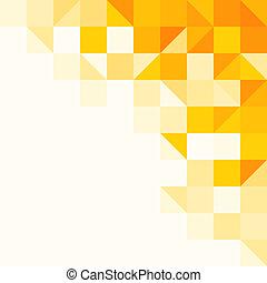 patrón, resumen, amarillo