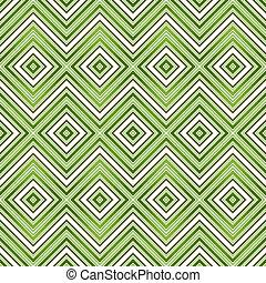 patrón, resumen, verde, seamless, zigzag