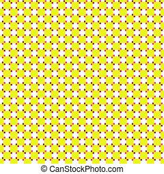 Patrón retro amarillo