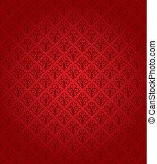 Patrón rojo sin costura.