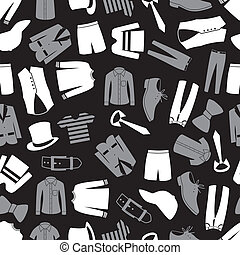 patrón, ropa, seamless, eps10, mens