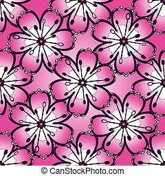 Patrón rosado antiguo sin costura