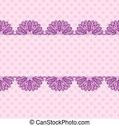 Patrón rosado con rayas florales