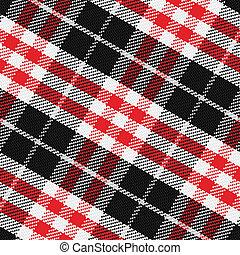 patrón, seamless, 3, vector, escocés, tartán