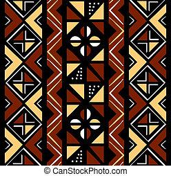 patrón, seamless, africano