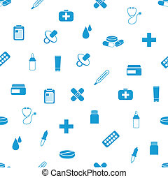 patrón, seamless, farmacia