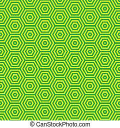 patrón, seventies, verde, retro