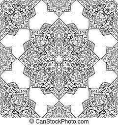 Patrón simbólico de Mandala.