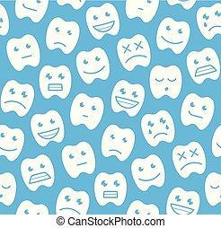 Patrón sin cortes con dientes felices