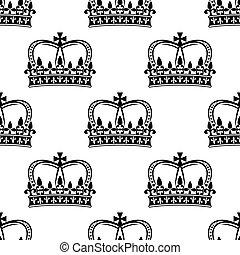 Patrón sin cortes de coronas reales